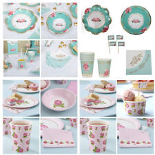 Quality Tea Party Tableware Set for 8 people - Eternal Rose or Vintage Rose