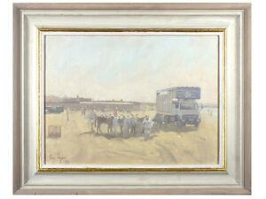 Ian Cryer - 'Beach Scene' - Original Oil on Canvas, Signed Cornwall Art Painting