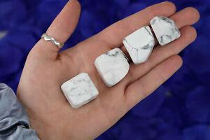 ONE Tumbled White Howlite Polished Stone