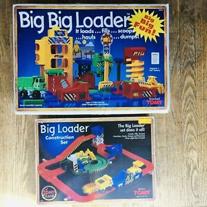 Vintage 1994 TOMY BIG LOADER Lot of 2 Construction Sets (Incomplete)