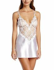 Dreamgirl Womens To Have and To Hold Satin Charmeuse Chemise and Thong Set,