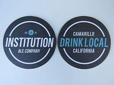 Beer Brewery Coaster ~*~ INSTITUTION ALE Company ~*~ Camarillo, CALIFORNIA Local