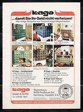 3w591/ Alte Reklame - von 1983 - KAGO Kachelöfen - Nürnberg