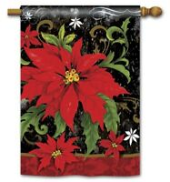 "New Christmas Yard Flags 28"" x 40"" Breeze Art made with Solar Silk Polyester"