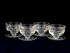 4 Vintage Waterford Crystal Kylemore Grapefruit Bowls Dessert Cups