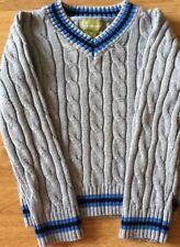 PANDEMONIUM Cricket Jumper Designer Grey Blue Sweater Top Summer Holiday 2 3
