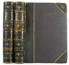 1883 THE LIBRARY OF POETRY AND SONG WILLIAM CULLEN  BRYANT 2 VOL ANTIQUE LEATHER