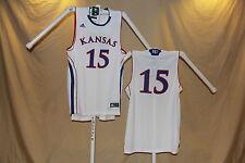 KANSAS JAYHAWKS  Adidas  #15   Basketball JERSEY   XL   NwT   wht   $55 retail