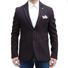 Giacca elegante uomo Sartoriale Vincent Trade righe pochette Made in Italy Tg48