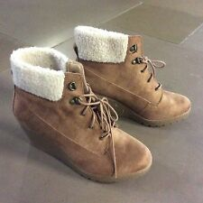 New Look Mid Heel (1.5-3 in.) Wedge Lace Up Boots for Women