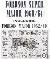 Fordson Major & Super Major Tractors Parts List Manual 1952-1964 Multilingual CD