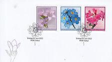 Liechtenstein 2013 FDC Alpine Flowers 3v Set Cover Forget-Me-Not Alpenrose