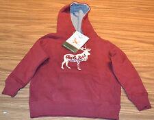 Eddie Bauer® Kids Boy's Pullover Hoody-Burgundy-2T-Nwt