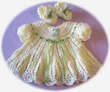 CROCHET PATTERN for Lemon Drop Baby Dress /Booties by REBECCA LEIGH - 6/9/12 MOS