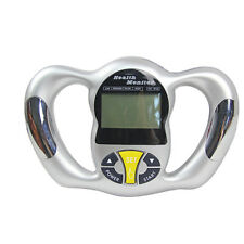 Digital Body Fat Analyzer Health Monitor BMI Meter Handheld Tester Calculator