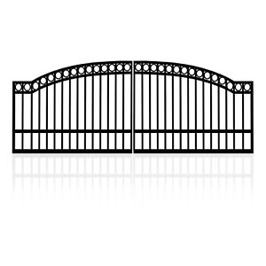 3.5m Double Arched Top Steel Gates (2x1.75) Swing Gate Arched Top with Rings