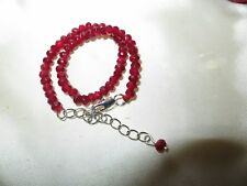 Beautiful sparkly 4mm faceted natural ruby bracelet 7 - 8.5 inches
