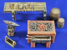 Verlinden 1/35 Blacksmith Workshop (Brick Furnace, Anvil, Workbench, etc.) 2816