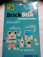 BRICKSTIX GALAXY STICKERS 60 Piece Space Sticker Set For Lego-Type Blocks NEW