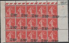 "FRANCE N° 227 "" SEMEUSE 90c S. 1F05 VARIETE SURCHARGE A CHEVAL"" NEUF xx TTB J950"