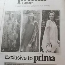 2018 August PRIMA SEWING PATTERN - ''Beach to Bar Kaftan'' in sizes 10 - 20.
