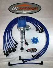 FORD Y-BLOCK 239-256-272-292-312 Small HEI DISTRIBUTOR BLUE + PLUG WIRES USA