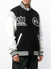 13d54a4b6  450 Adidas x United Arrows   Sons Leather Varsity Jacket Black White  CZ8078 M