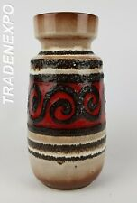 Vintage 1960-70s SCHEURICH KERAMIK 242-22  Fat Lava Vase West German Pottery