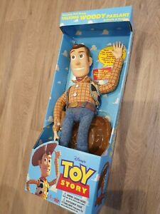 "Vintage Toy Story Woody 15"" Original Pull String 1995 Thinkway Boxed"