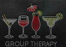 "Hotfix Rhinestone Iron on Transfer Bling ""Group Therapy"""