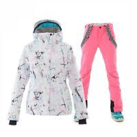 Skiing Women's Ski Suit Jackets and Pants Set Windproof Outdoor Sports Snowsuit