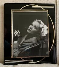 Reverse Painting Frame Glass Vintage Black Silver Mid Century Art Deco Photo