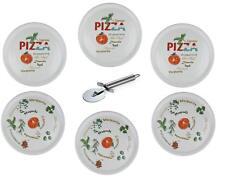 Retsch Arzberg - Pizzateller mit Pizzaschneider - Ø30cm (6er Set mit Dekor)
