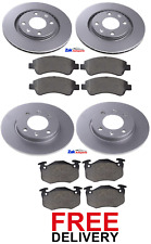 FOR PEUGEOT 206 CC 1.6 2.0 (2002-2007) FRONT & REAR BRAKE DISCS & PADS SET *NEW*