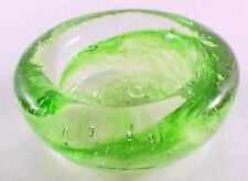 Way Out Wax Hand Blown Glass Tealight Holder Pale Green Made in USA