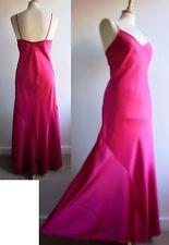 Vintage Pink Satin Long Night Dress Gown Nightie St Michael Size 12