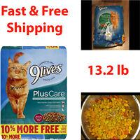 Dry Cat Food Adult Kittens Diet Balanced Nutrition Healthy Tuna Vitamin 13.2 lb