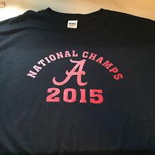 t-shirt Alabama Crimson National Champs CHAMPION 5 sizes choose color Tide 2015