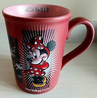 """Authentic """"MINNIE MOUSE"""" Disney Parks Coffee Mug Cup Dark Rose Pink"""