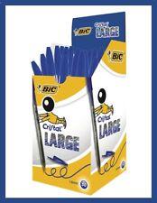 BIC 10 x Cristal 1.6mm Large Blue Bold Line Pens - FREE 1st CLASS POSTAGE