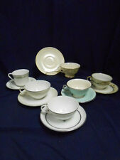 """Mixed Lot Vtg Mid Century """"Mad Hatter Tea Party"""" Set (6) Cups Saucers Lot B22"""