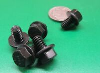 "Flanged Cap Screw Bolt, Black, Steel Grade 8, FT, 1/4""-20 x 3/8"" Length, 25 Pc"