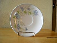 Noritake Progression Bewitch  saucer Blue Floral set of 5