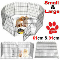 Foldable Indoor/Outdoor Pet Dog Pen Puppy Rabbit Playpen Safe Enclosure Run Cage