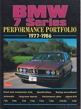 BMW E23 728 728i 730 732i 733i 735i 745i & ALPINA B10 1977-1986 ROAD TESTS BOOK