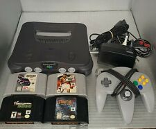 Nintendo 64 Console Bundle, OEM Controller and Cables, 4 Games, TESTED & WORKING