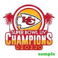 Kansas City Chiefs (j) Iron on Patch Embroidered Super Bowl LIV 54 Champion 2020