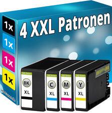 4x  TINTE PATRONEN für Canon Maxify MB2050 MB2150 MB2155 MB2350 MB2750 MB2755