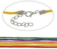 10 Makramee Halsband Halskette mit Karabinerverschluss 43cm Schmuckband Set C1