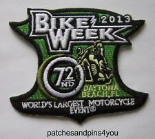 Harley Davidson Related Daytona Beach Bike Week 2013 Sew On Patch. FREE UK P&P!